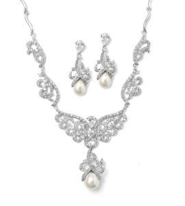 Scroll Bridal Necklace Set