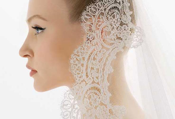 Spanish style bridal veil